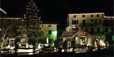 Nativity scene in Scurelle
