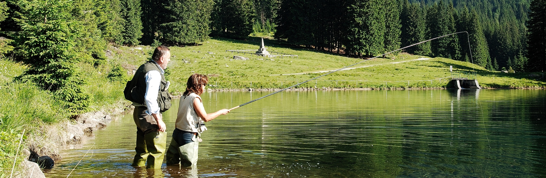 Fishing on alpine lakes and mountain streams